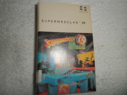 caràtula del cassette de supermezcla 89 (edc.venezuela 1989)