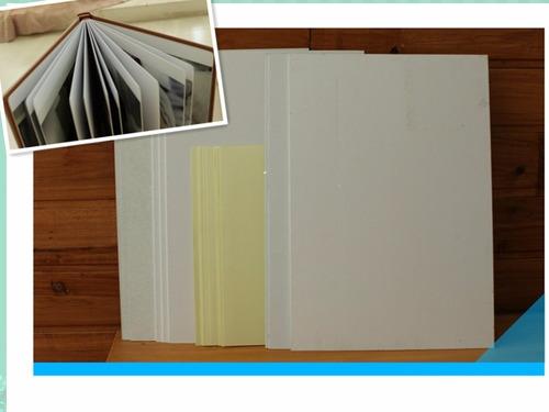 cartulina bifaz/doble faz 30x20 cm.p/fotolibros pte x 50 uni