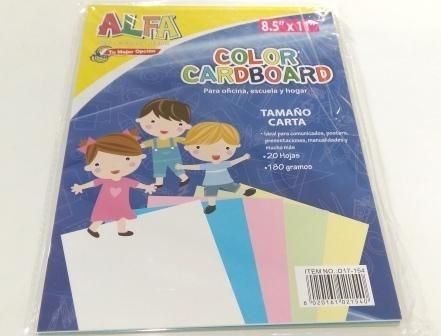 cartulina de colores 20 unidades de colores variados