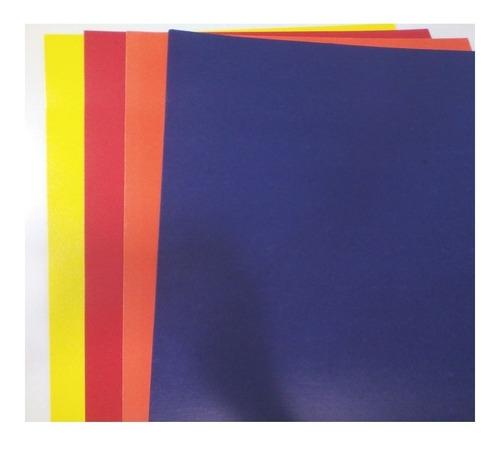 cartulina doble faz colores variados  pack 5 und