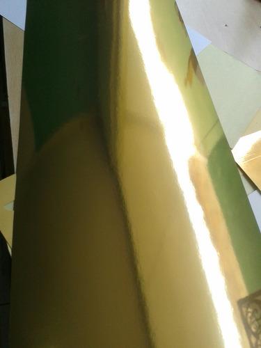 cartulina dorada metalizada tipo espejo por pliego 70 x 50