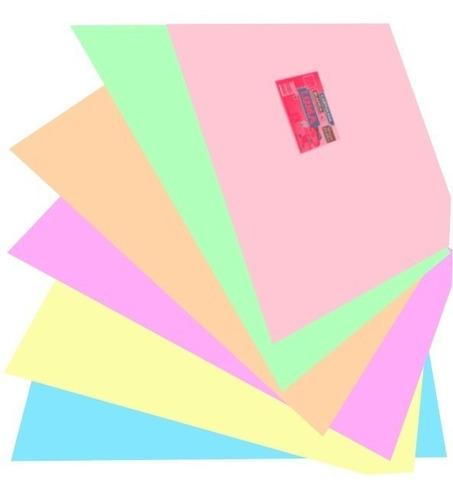 cartulina escolar luma 45x63cm colores pastel calidad x 40un