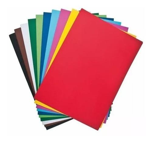 cartulina escolar varios colores x unidad