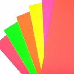cartulina luma fluo x10 u. amarillo, naranja, rojo, rosa,ver