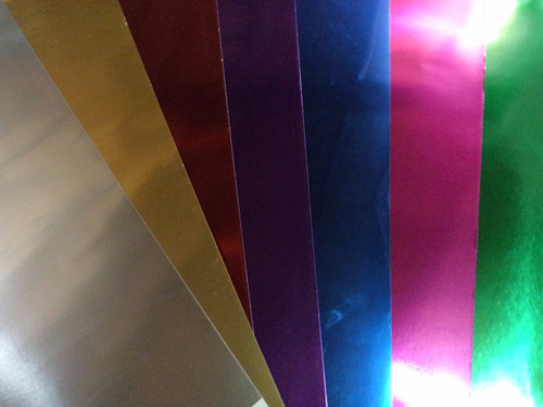 cartulina metalizada dorada, plateada, azul, rojo, fucsia y+