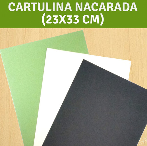 cartulina nacarada perlada (precio por paquete 9 unidades)
