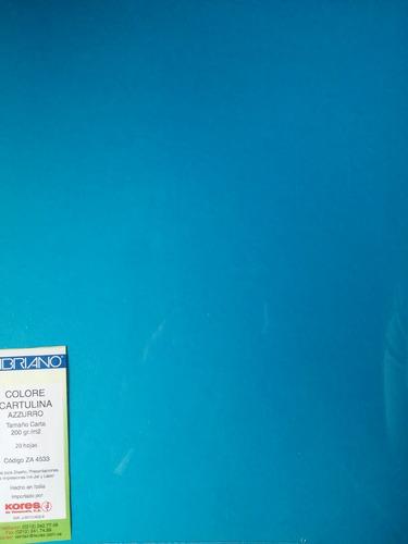 cartulina tamaño carta turquesa, 200 gr/m2