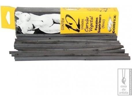 carvão vegetal para desenho corfix c/12 fino