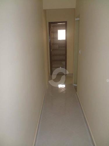 casa 1ª locação de 2 quartos em cond. fechado, jardim califórnia, são gonçalo. - ca1362