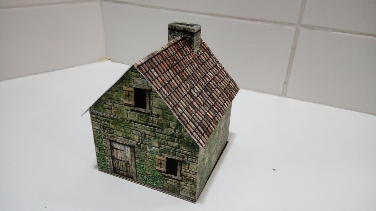 Casa 1 -montada- Wargame Bolt Action Lotr Rpg - Papercraft