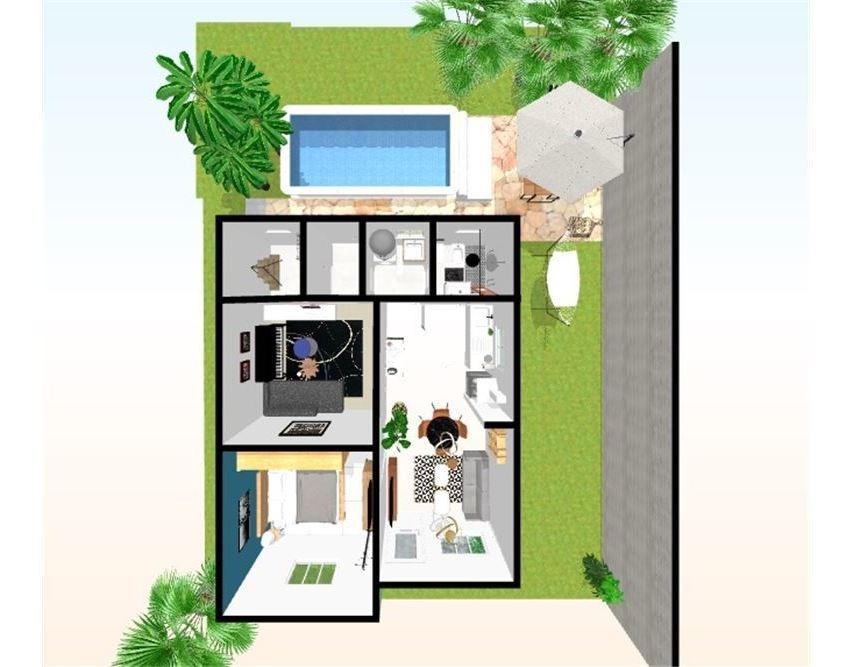 casa 2 dormitorios con pileta!