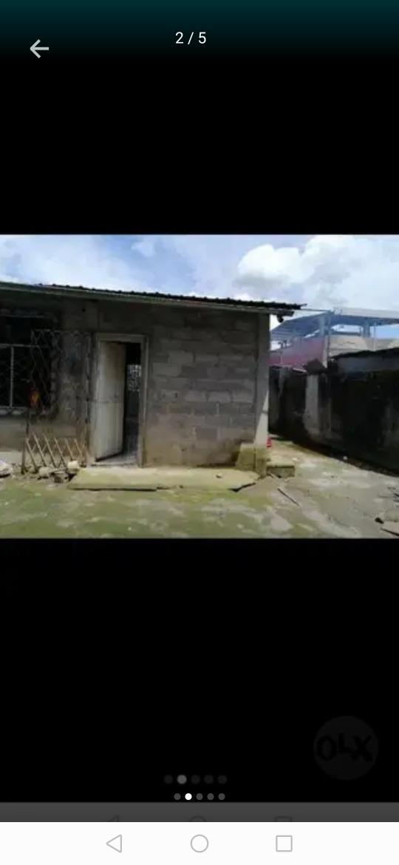 casa 2 habitaciones, 1 baño, sala, comedor, sisterna