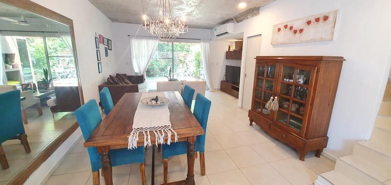 casa 3 ambientes con jardín, parrilla y 2 cocheras en barrio cerrado rincon de milberg