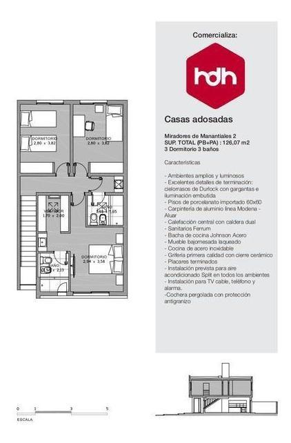 casa 3 dormitorios - miradores de manantiales