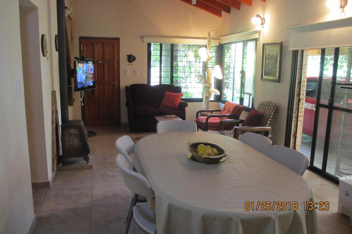 casa  80m2 3 ambientes galería 60m2 internet wi fi,