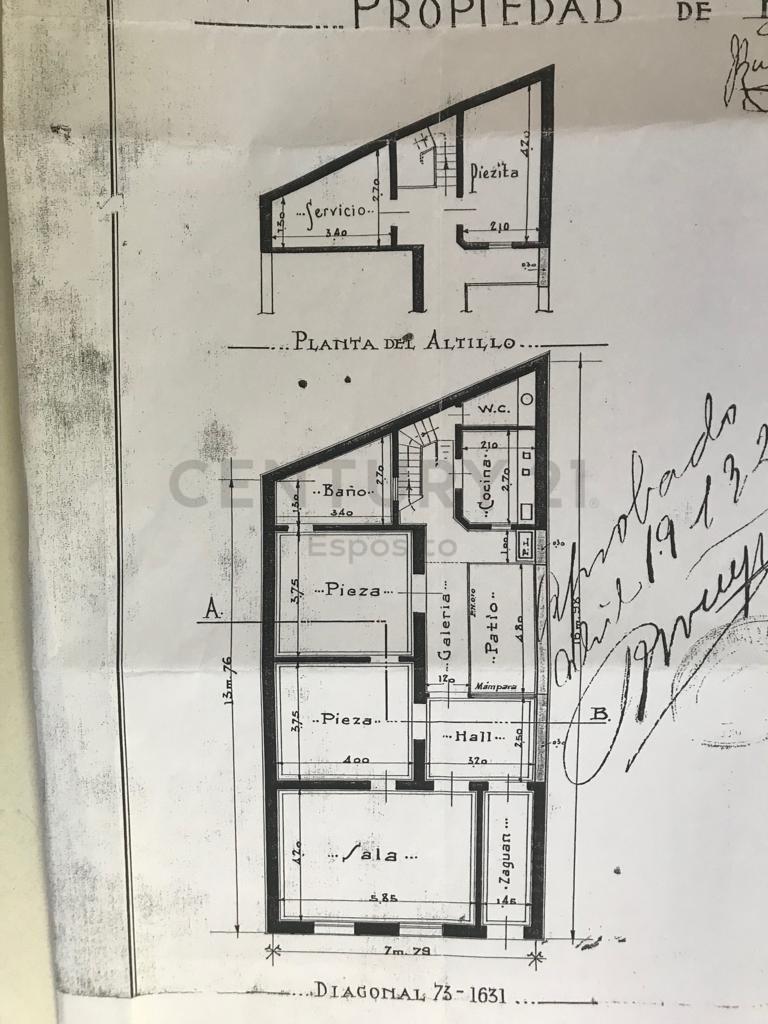 casa a demoler en venta, diag. 73 e/ 54 y 55, la plata