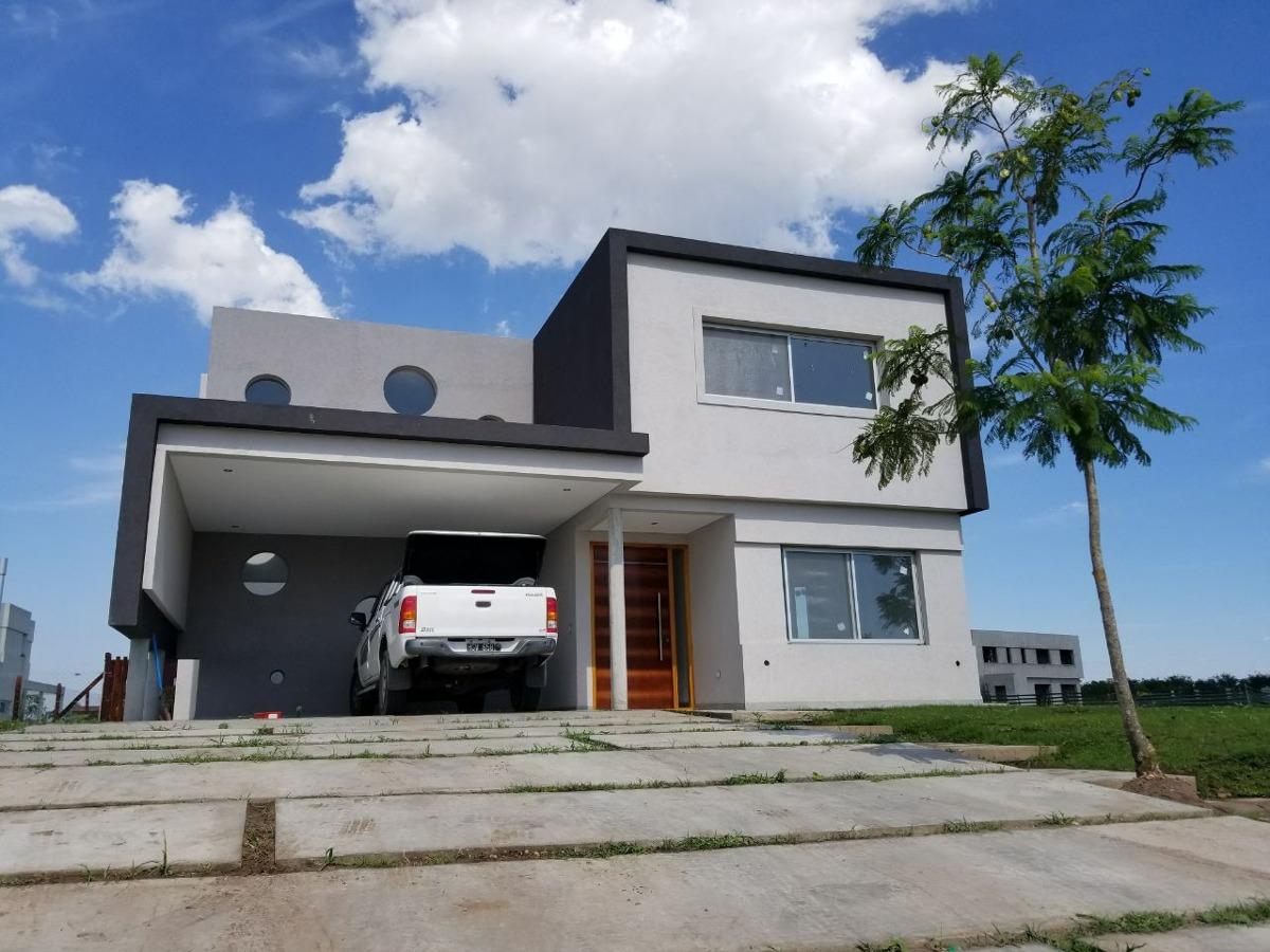 casa a estrenar - puertos del lago - barrio ceibos