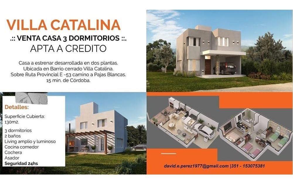 casa a estrenar, villa catalina, 3 dorm 2 baños-