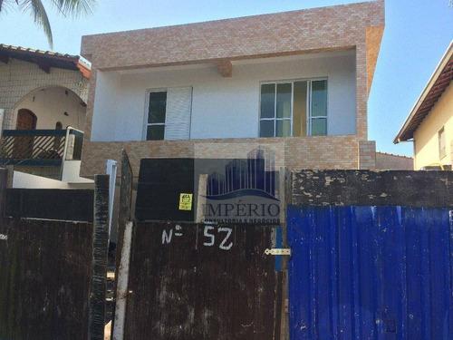 casa á venda, 2 dormitorios no tude bastos (sítio do campo), praia grande. - ca0067