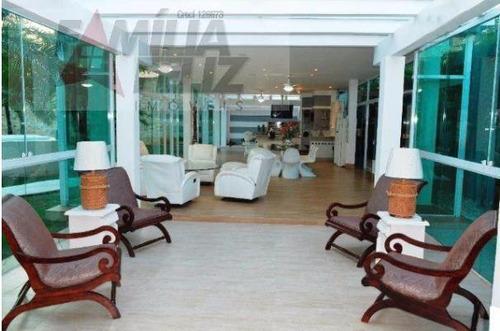 casa a venda em guarujá, jardim acapulco, 6 dormitórios, 6 suítes, 8 banheiros, 8 vagas - ca1820