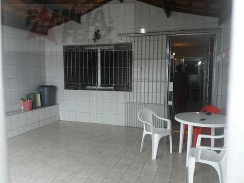 casa a venda em praia grande, balneário maracanã, 1 dormitório, 1 banheiro, 1 vaga - ca2513