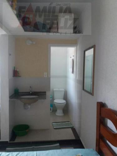 casa a venda em praia grande, caiçara, 1 dormitório, 1 suíte, 2 banheiros, 2 vagas - ca2254