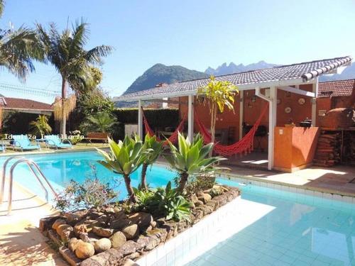 casa a venda em teresópolis, carlos guinle, 3 dormitórios, 1 suíte, 4 banheiros, 2 vagas - c3-116