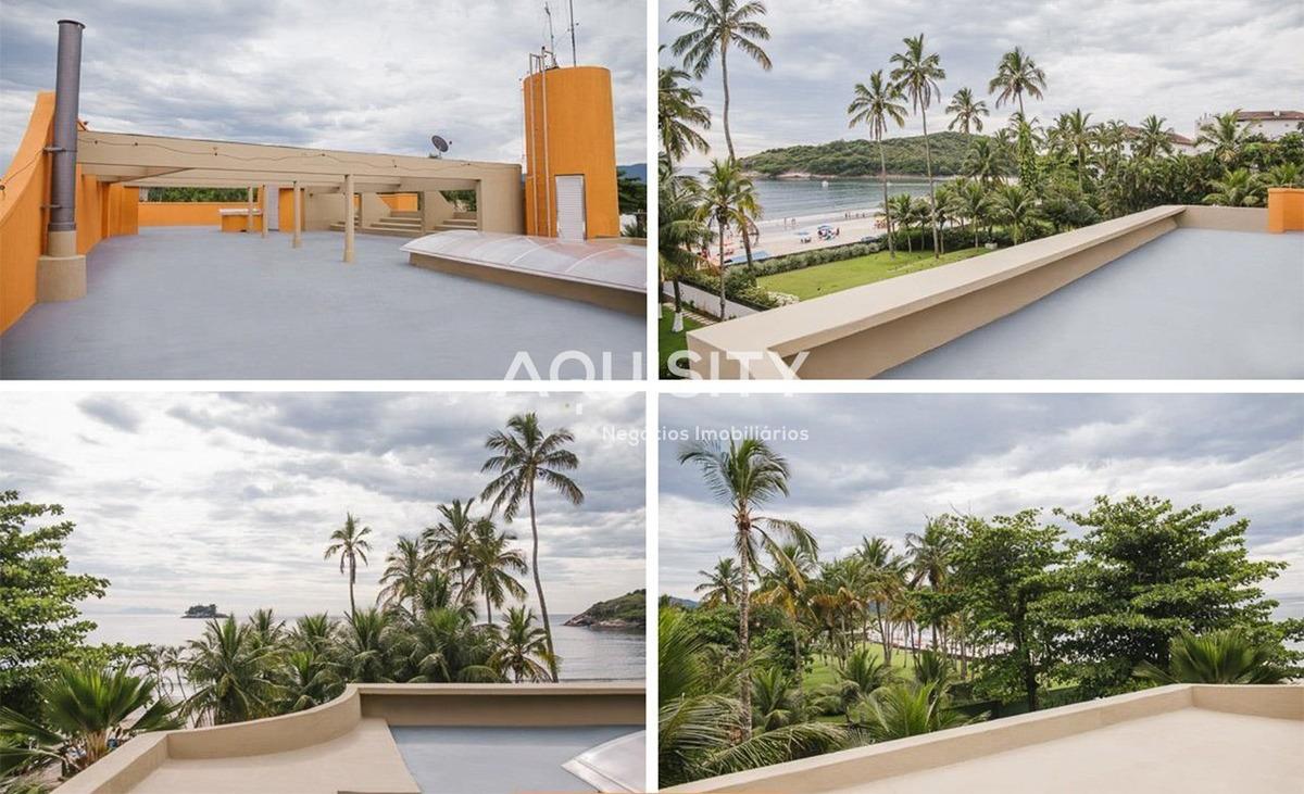 casa a venda na praia de pernambuco, guarujá, pé na areia com piscina. - ca00041 - 33105722