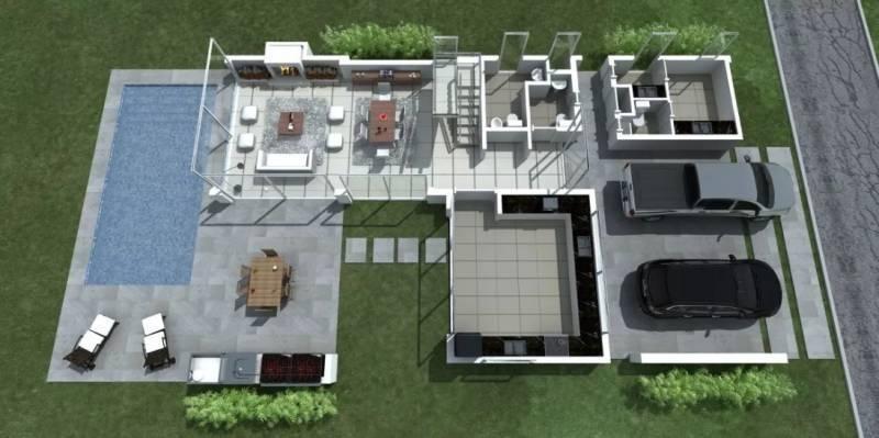 casa al lago 3 habitaciones con piscina. barrio muelles. puertos.
