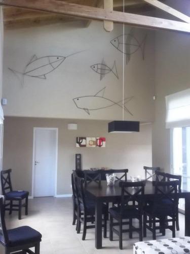 casa almejas a 200mts playa - en centro de pinamar pax 8
