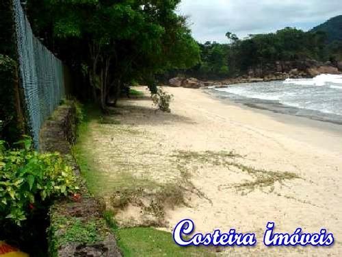 casa alto padrão - pé na areia com praia particular - c214