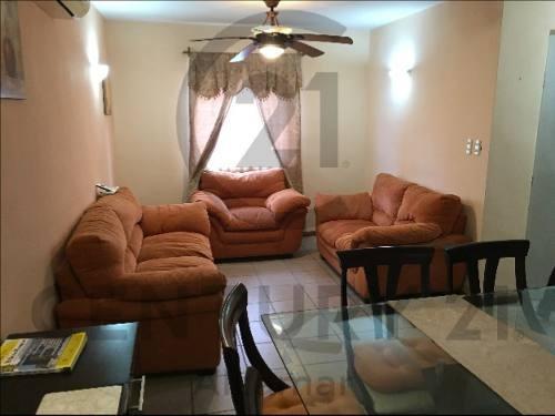 casa amueblada en renta, col. villa hermosa, tampico, tamaulipas.