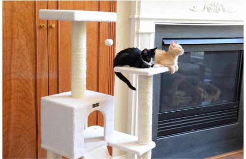 casa árbol con rampa y rascador para gatos envíogratis!