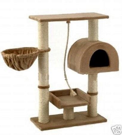 Casa area de juegos y afilador de u as para gatos - Fundas para unas de gato ...