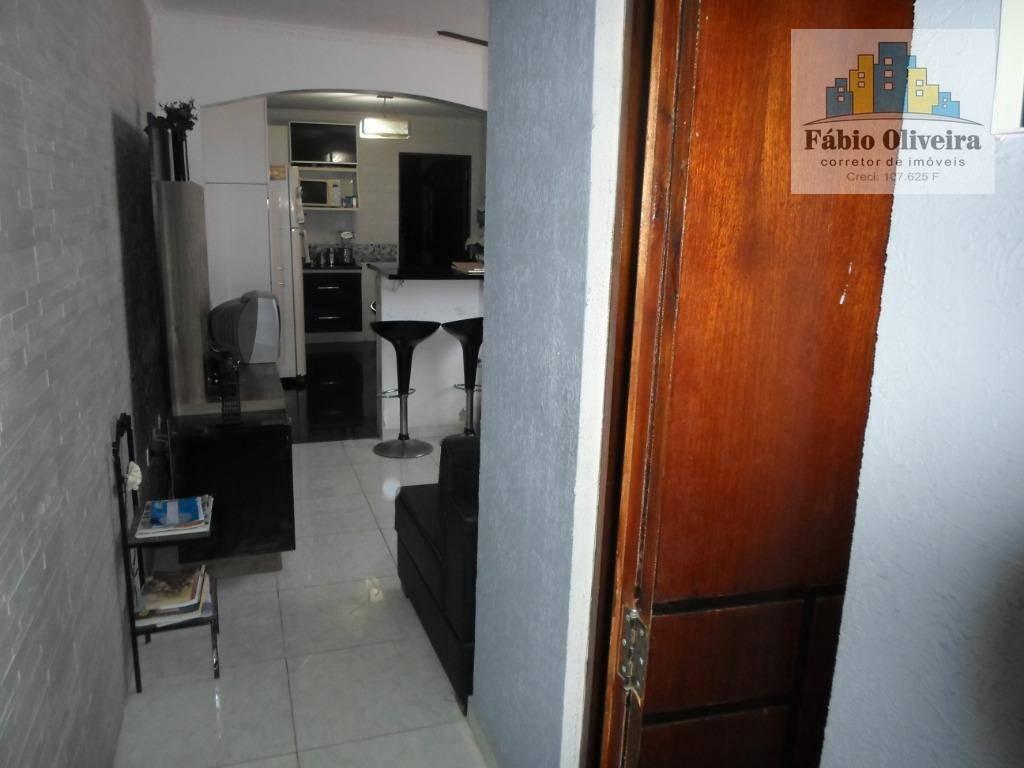 casa assobradada aclive com 2 dormitórios à venda, 98 m² por r$ 380.000 - jardim utinga - santo andré/sp - ca0241