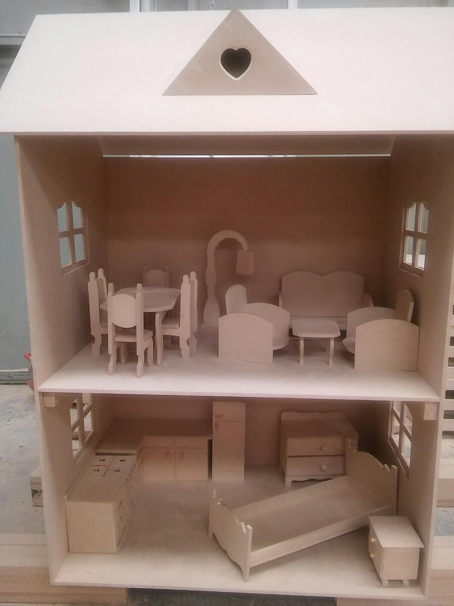 Casa Barbie Fibrofacil Combo Con Muebles 1 120 00 En Mercado Libre # Muebles De Casa