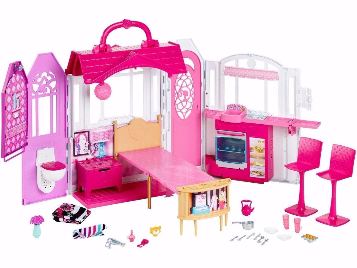 Casa barbie real casa de f rias com luz e som mattel cld97 r 409 99 em mercado livre - La casa de barbie de juguete ...