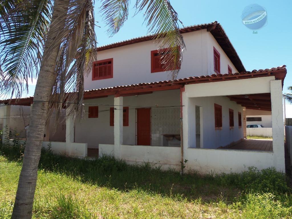 casa beira mar, com 5 quartos, na praia de graçandu - ca0053