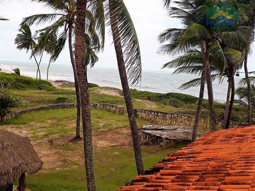 casa beira mar à venda -  praia de tabatinga - conde -  litoral sul da paraiba - ca0172