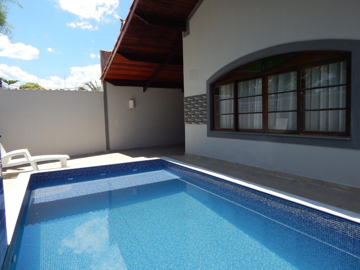 casa c/ piscina e mobiliada à venda na praia de peruíbe.
