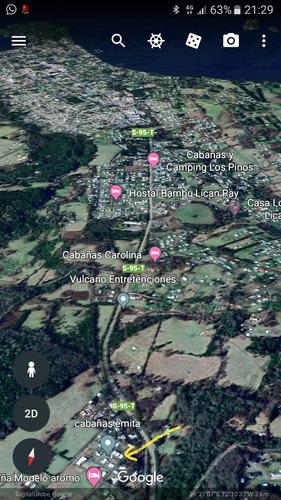 casa cabaña 2 dor. 6 personas. a dos km. de lican ray.