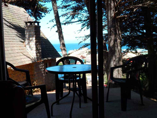 casa cabaña arriendo playa chepica el tabo vista al mar
