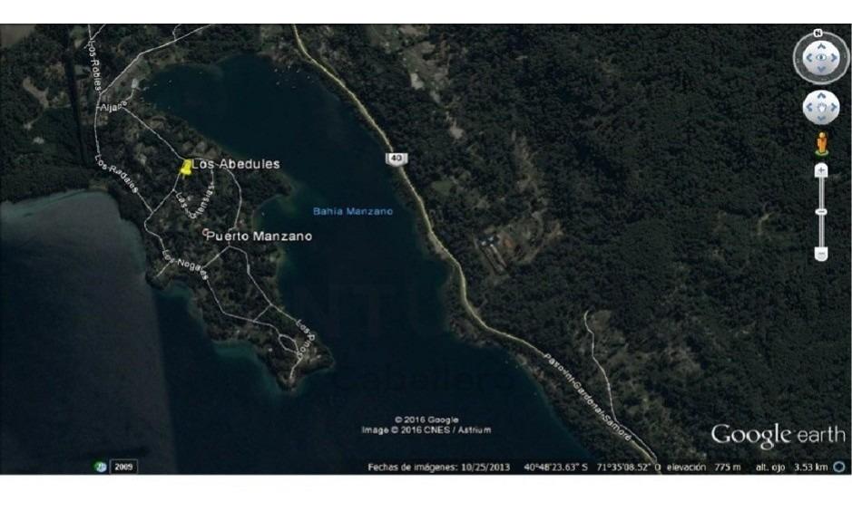 casa cabaña en puerto manzano vista parcial lago a estrenar bahía manzano 129mts