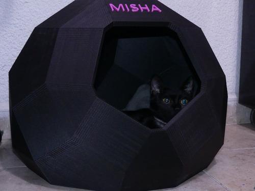 casa cama cueva para gato o perro impresa en 3d