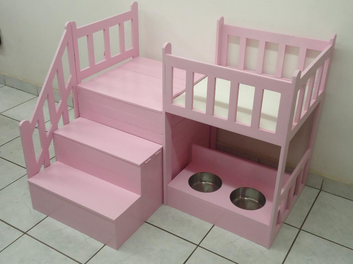 Casa cama para perros dos pisos mediana de lujo vbf for Escaleras para casas de 2 pisos