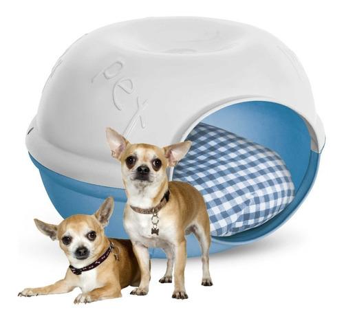casa cama perro gato plast pet cave azul envío gratis