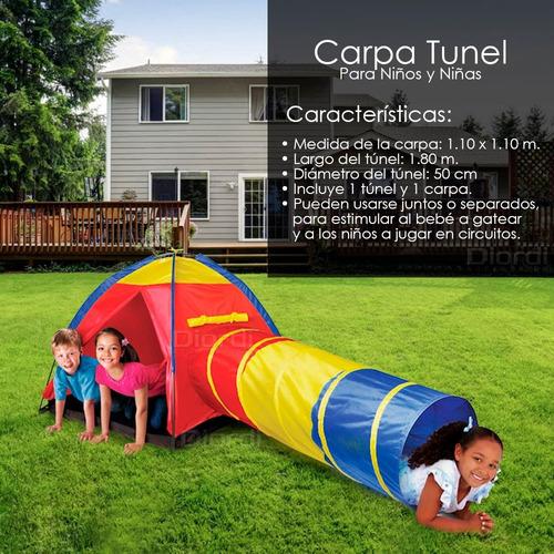 casa carpa castillo armable con tunel estimulacion td lince