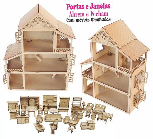 casa casinha +35 mini moveis clássico mdf cru montados