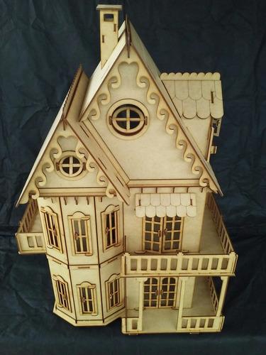 casa casinha boneca mdf - para polly (completa) frete grátis