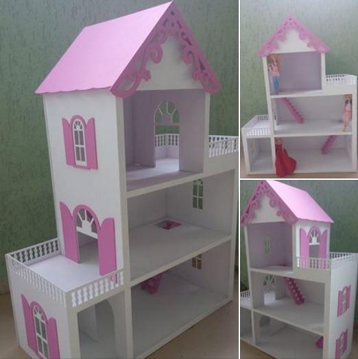 Casa casinha bonecas barbie mdf pintada grande prontaentrega r 349 99 em mercado livre - Carton de demenagement pas cher ...
